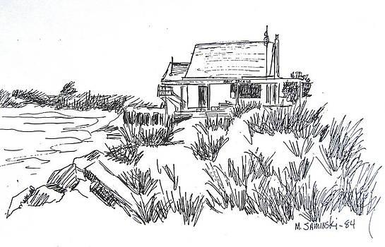 Fisherman's Cove Sketch Manasquan by Melinda Saminski