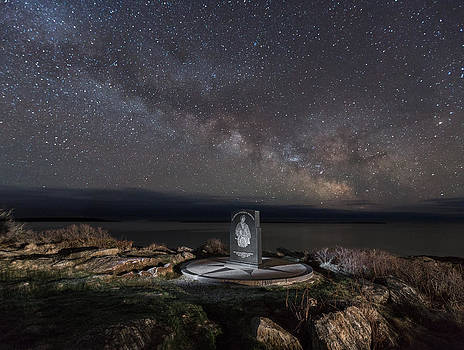 Fishermans Memorial and Milky Way by Hali Sowle