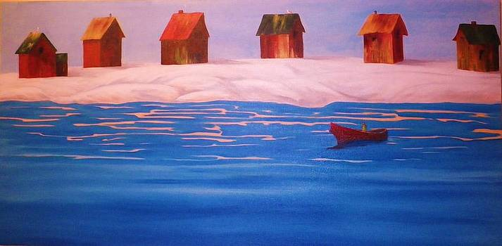 Fisherman's Sheds by Anne Marie Spears
