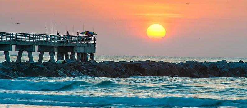 Fisherman's Sunrise by Cliff C Morris Jr