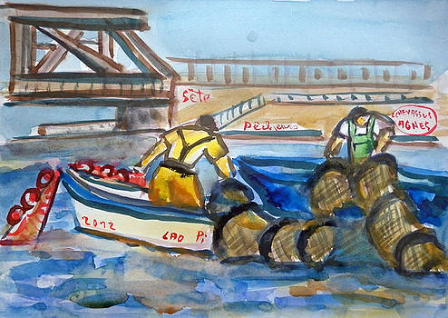 Fishermens Sete Pointe Courte France by Chevassus-agnes Jean-pierre