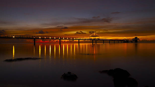 Fisheye Pier  by Brian Governale