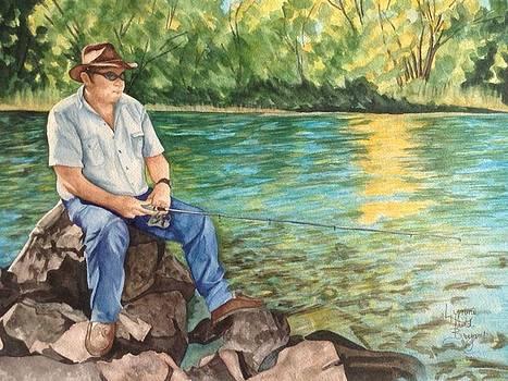Fishing at Aviemore by Lynne Hurd Bryant