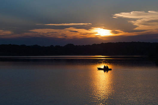 Fishing at Dusk by Becky Meyer