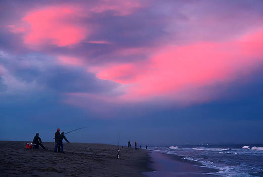 Fishing at Sandy Hook NJ by Kellice Swaggerty