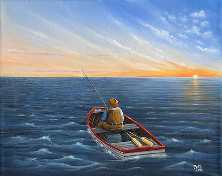 Fishing at Sunrise by Anthony Fotia