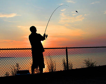 Fishing at Sunset by Brian M Lumley