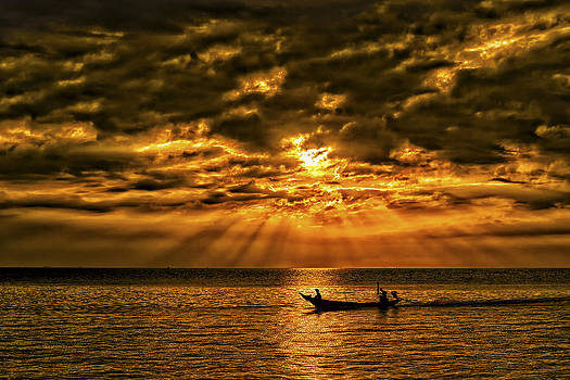 Fishing at Sunset by Phil Callan Photography