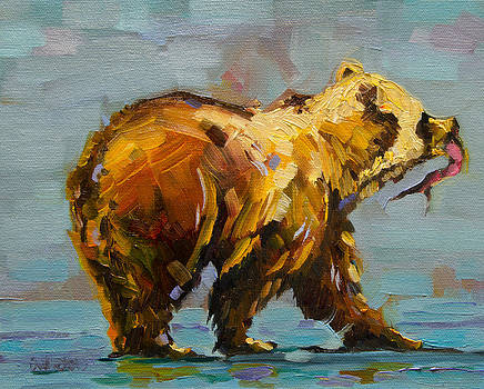 Fishing Bear by Diane Whitehead