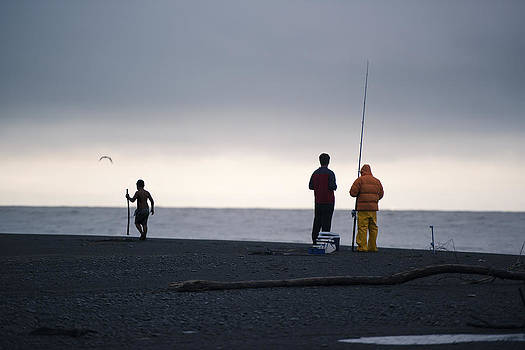 Fishing before the storm by Joe Wigdahl