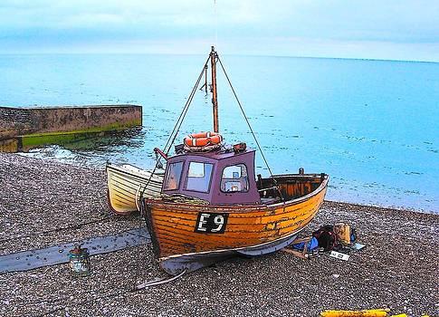 Jan Matson - Fishing Boat at Beer Bay Devon
