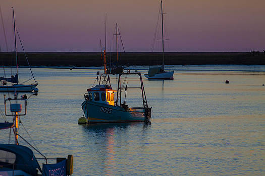 Fishing Boat Catches the Last Rays by Matthew Bruce