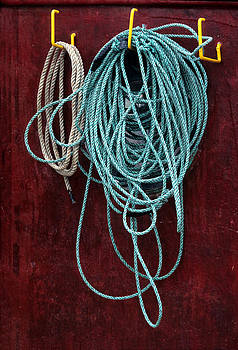 Fishing Boat Rope by Harold E McCray