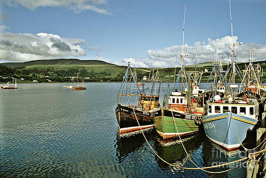 Fishing Boats at Uig Skye Scotland 1994 by David Davies