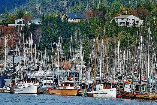 Fishing Boats Sitka Ak by Barbara Mundt