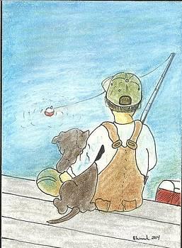 Fishing buddies by Barbara Unruh