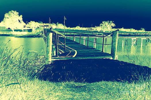 Fishing Dock by Mickey Harkins