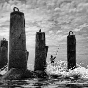 Fishing #indonesia #bw #sea #fishing by Dani Daniar