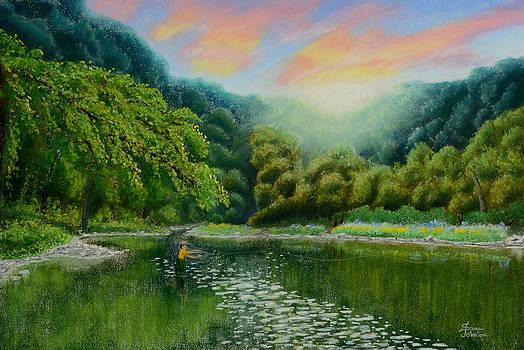 Sam Davis Johnson - Fishing on the Dix