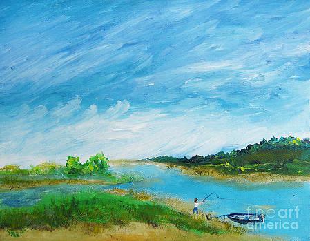 Ellen Miffitt - Fishing on the Inlet