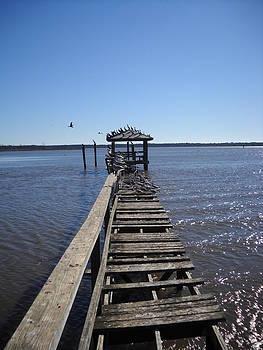 Fishing Pier by Vennie Deas Moore