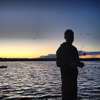#fishing #sunset #atthelake by Megan Rudman
