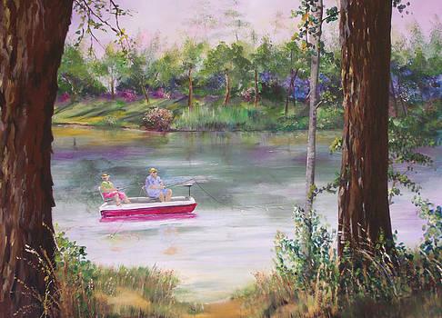 Fishing the Day Away by Barbara Sudik