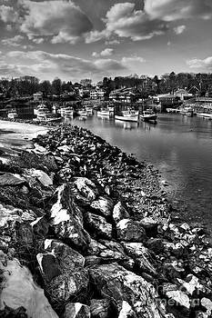 Fishing Village in Maine by Derek Latta