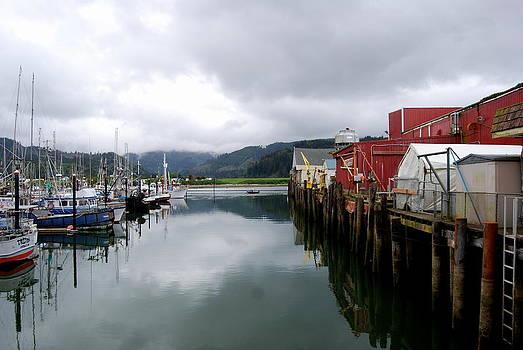 Fishing Village by Mamie Gunning