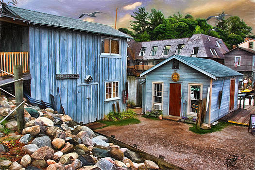 Fishing Village by Tom Schmidt