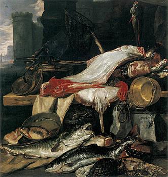 Fishmonger's Stall by Pieter Boel