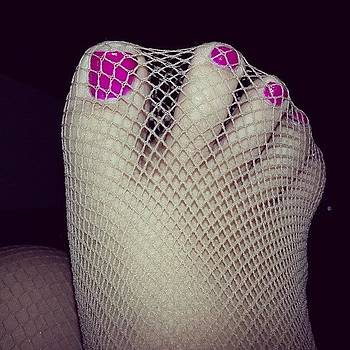 #fishnets #stockings #toespread by Alli Flynn