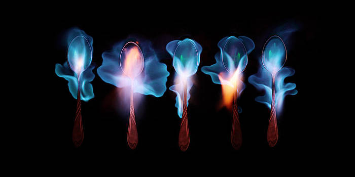Five magic spoons  by Floriana Barbu