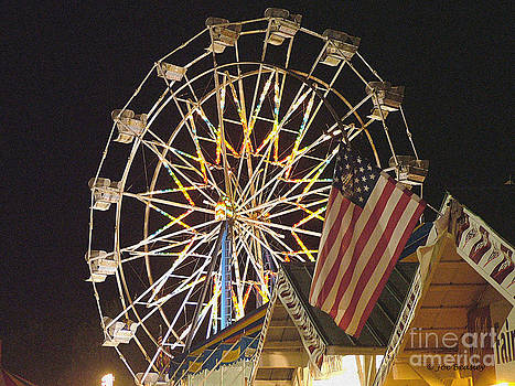 Flag and Ferris Wheel at the Fair  by   Joe Beasley
