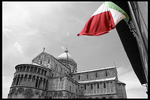 Flag in Pisa by Enrique  Coloma