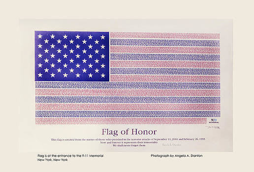 Angela A Stanton - Flag of Honor 9-11 Memorial - Poster