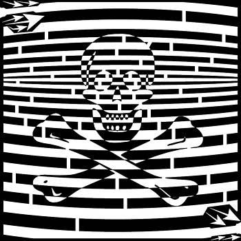 Flag of Jolly Roger Maze by Yonatan Frimer Maze Artist