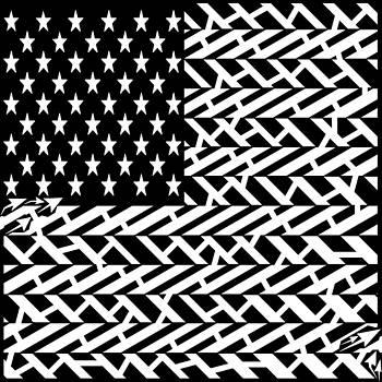 Flag of USA Maze by Yonatan Frimer Maze Artist