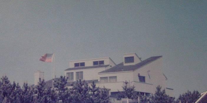Flag Over Mantoloking by Joann Renner