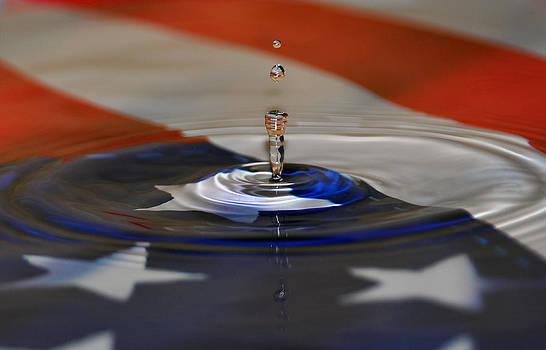 Flag Water Drop by Mischelle Lorenzen