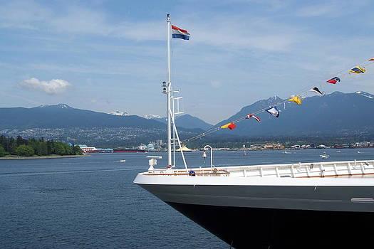 Flaged Ship by Devinder Sangha