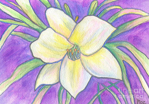 Flagler Beach Daylily by Roz Abellera Art