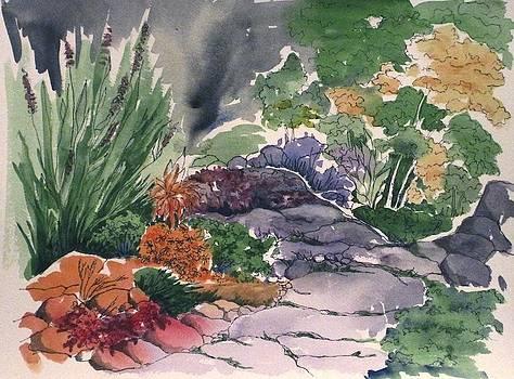 Flagstone Path by Renee Goularte
