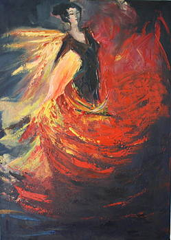 Flamenco dancer by Brigitte Roshay
