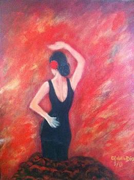 Flamenco dancer by Elizabeth Diaz