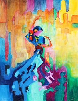 Flamenco In Blue - Spanish Dance by Sanjeev Nandan