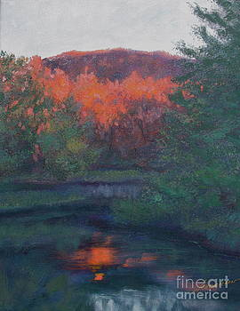 Flames of Fall at Catfish Corner by Sherri Anderson