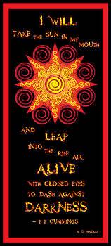 Flaming Celtic Sun by Celtic Artist Angela Dawn MacKay