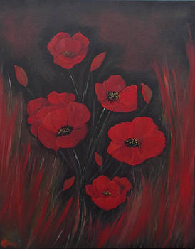 Flaming Poppies Sold by Cynthia Adams