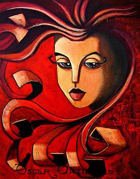 Flaming Serenity by Oscar Ortiz